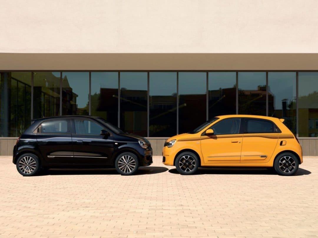 Nouvelle Renault Twingo restylée (2019) de profil