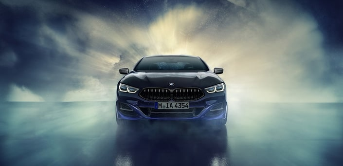 BMW m850i night sky de face