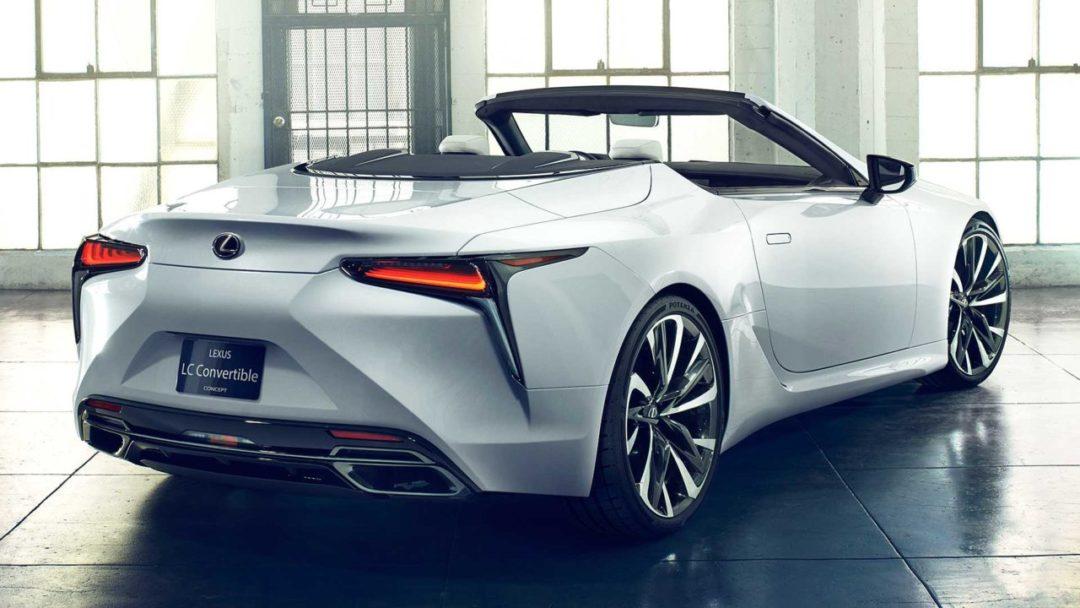 Arrière de la Lexus LC Cabriolet concept