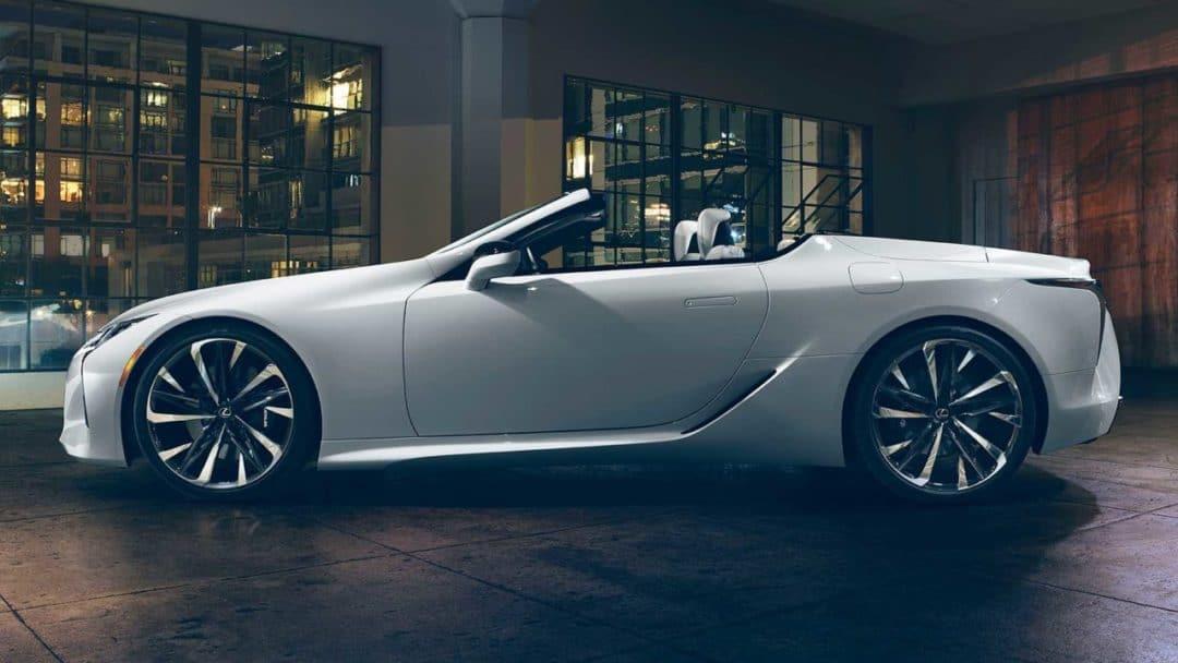 Lexus LC Cabriolet concept de profil