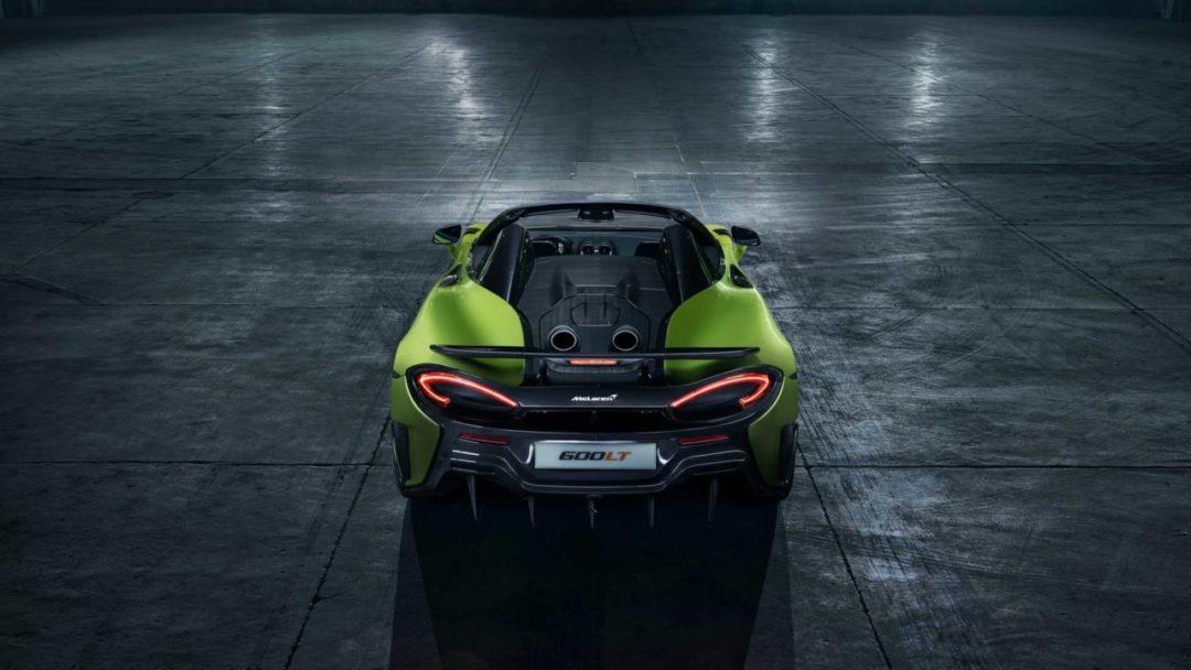 McLaren 600LT Spider (2019) face arrière