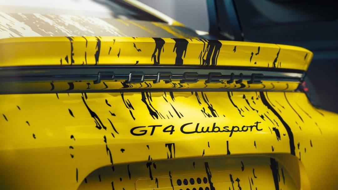 Arrière Porsche 718 Cayman GT4 Clubsport (2019)