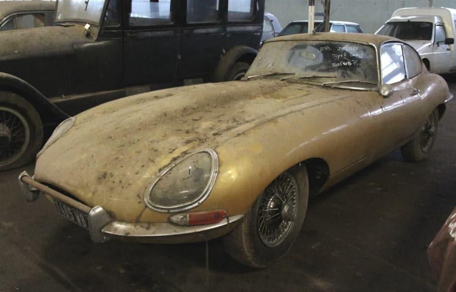 La Jaguar type-e proposée aux enchères
