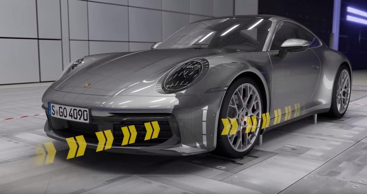 Aérodynamisme de la 911 expliqué par Porsche
