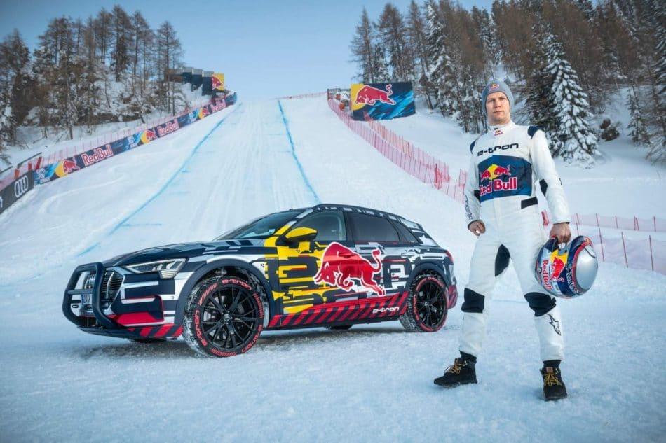 Mattias Ekström et l'Audi E-Tron