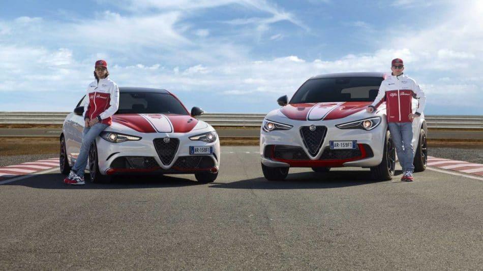 Stelvio Quadrifoglio, Giulia Quadrifoglio Alfa Romeo Racing avec Kimi Raikkonen et Antonio Giovinazzi