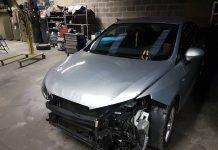 Seat Ibiza accidentée