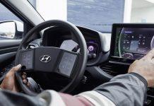 Volant sans boutons et uniquement tacticle de Hyundai