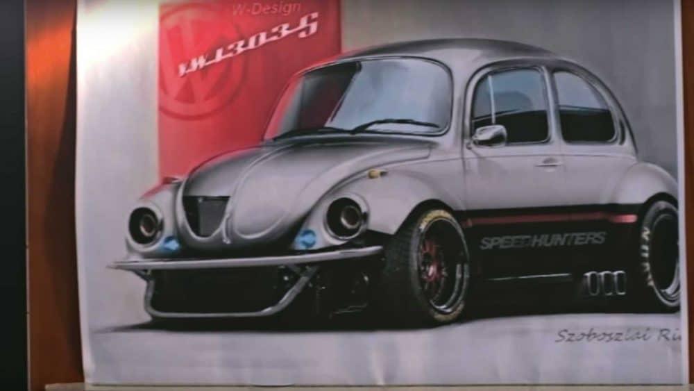 Illustration de la Super-Beetle Speedhunters