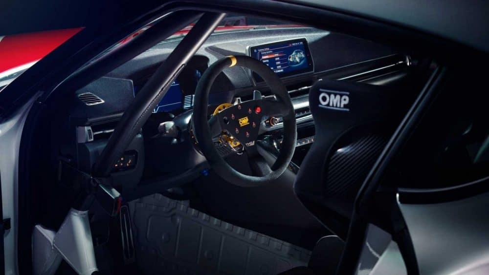 Intérieur de la Toyota GR Supra GT4