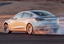 Tesla Model 3 drift