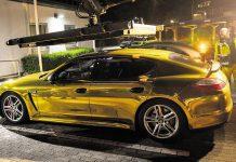 Porsche Panamera en Or : confisquée par la police