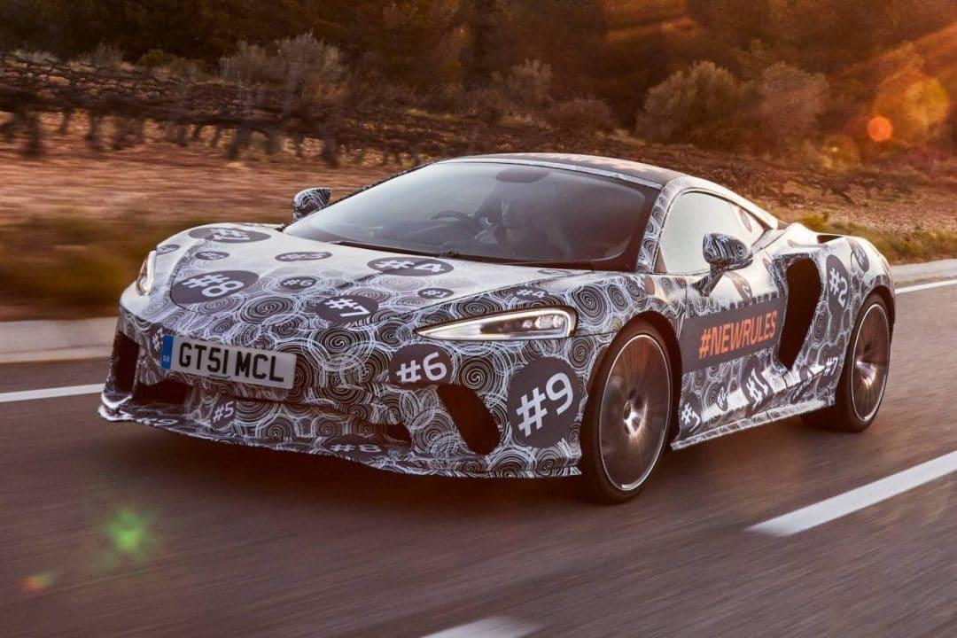 Future McLaren GT camouflée