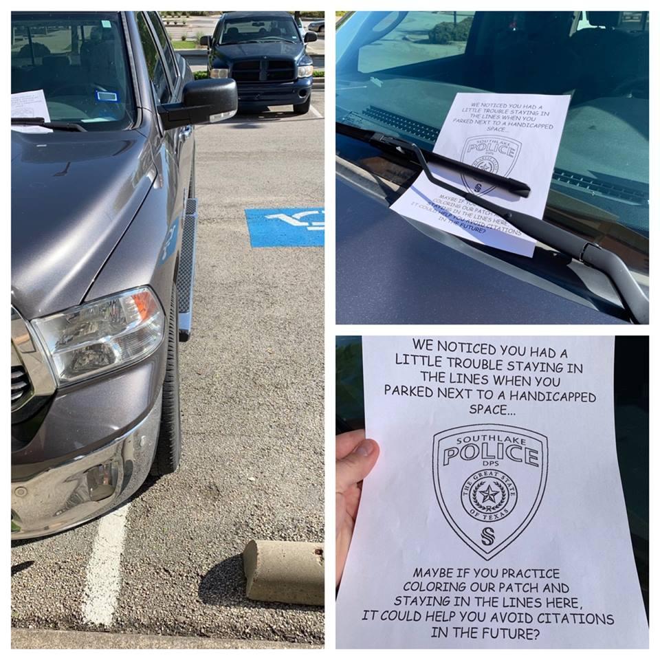 Police : un officier texan préfère faire une blague que mettre une contravention