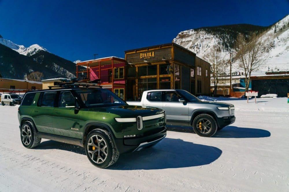 Rivian R1T (pick-up) et Rivian R1S (SUV 7 places)