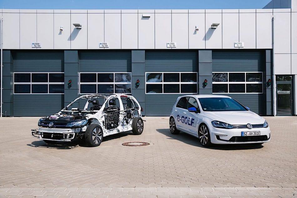 Volkswagen e-Golf sans carrosserie