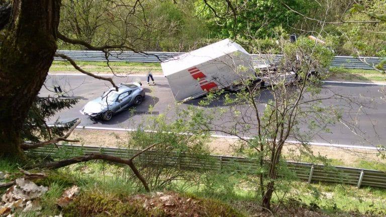 Crash de la Toyota Supra sur le Nürburgring