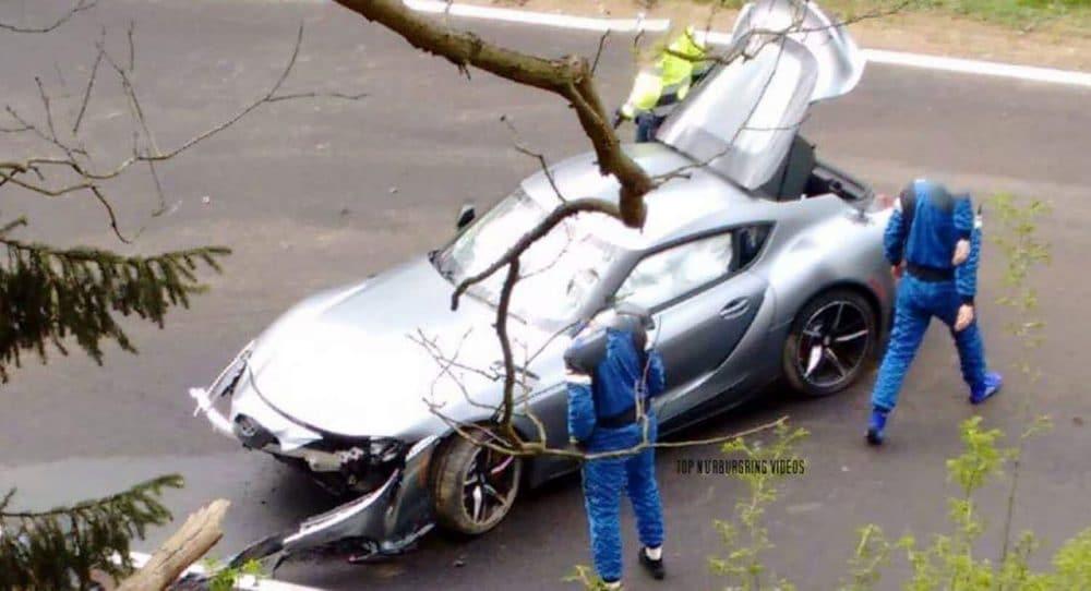 Crash Toyota Supra Nürburgring