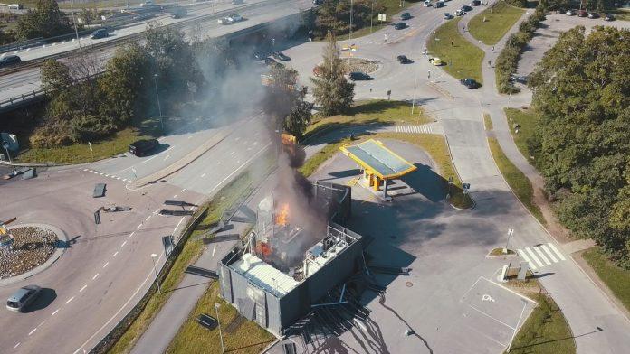 Hydrogène explosion