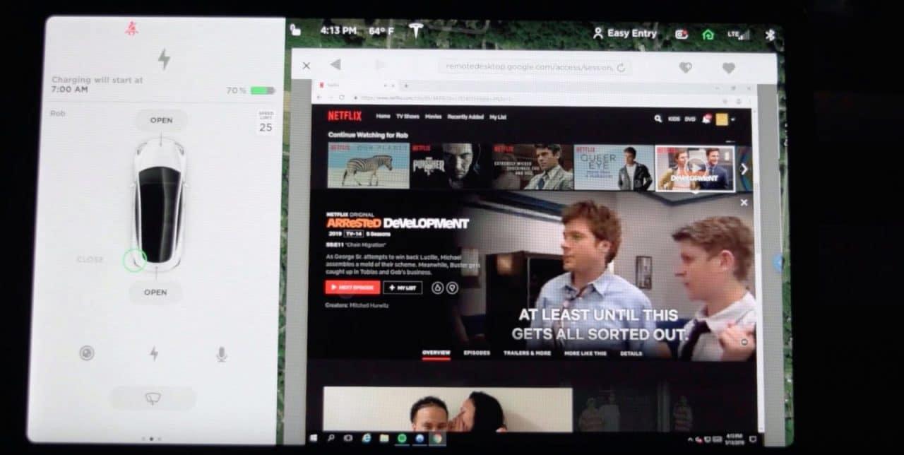 Netflix et YouTube disponible dans toutes les Tesla