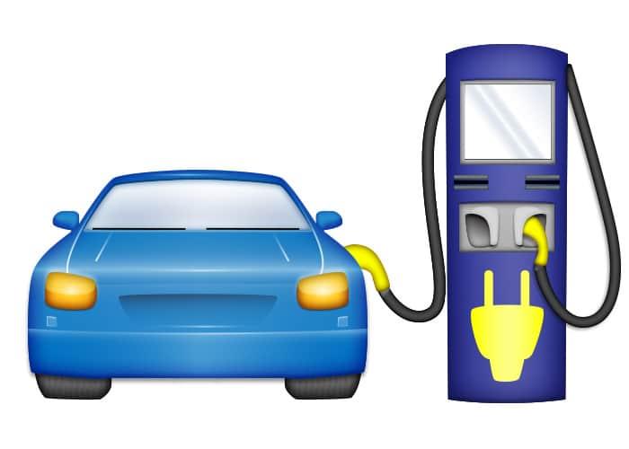 Emoji voiture électrique