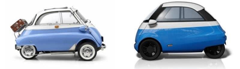 Isetta .(1956) VS. Microlino (2019)