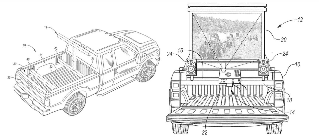 Ford F-150 videoprojecteur