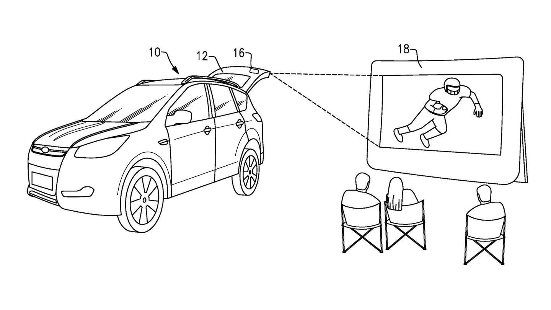 Ford dépose un brevet pour un vidéoprojecteur embarqué