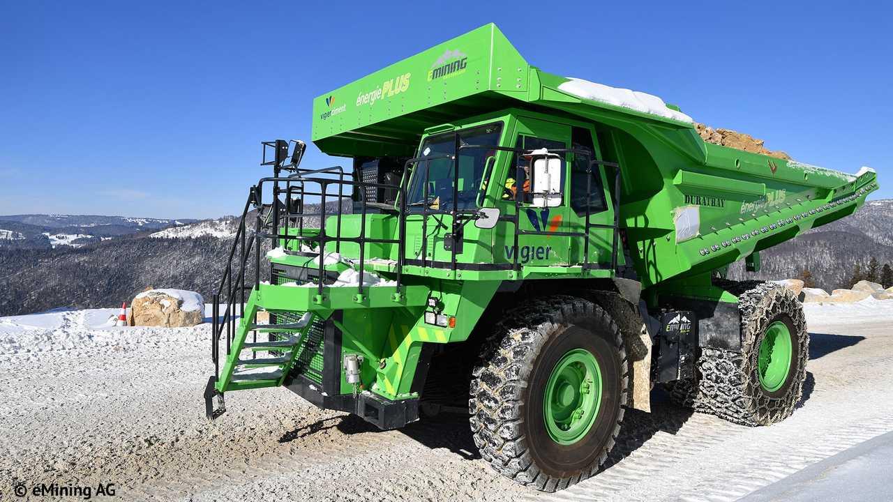 Camion électrique chantier