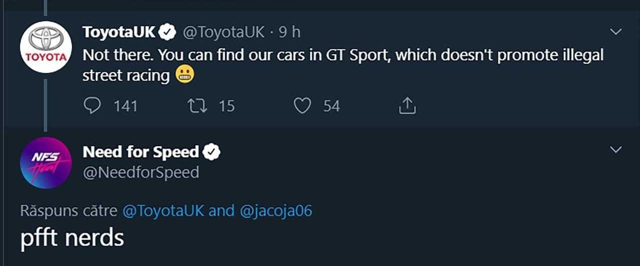 NFS Heat : Toyota UK explique pourquoi il n'y a pas de Toyota dans le jeu