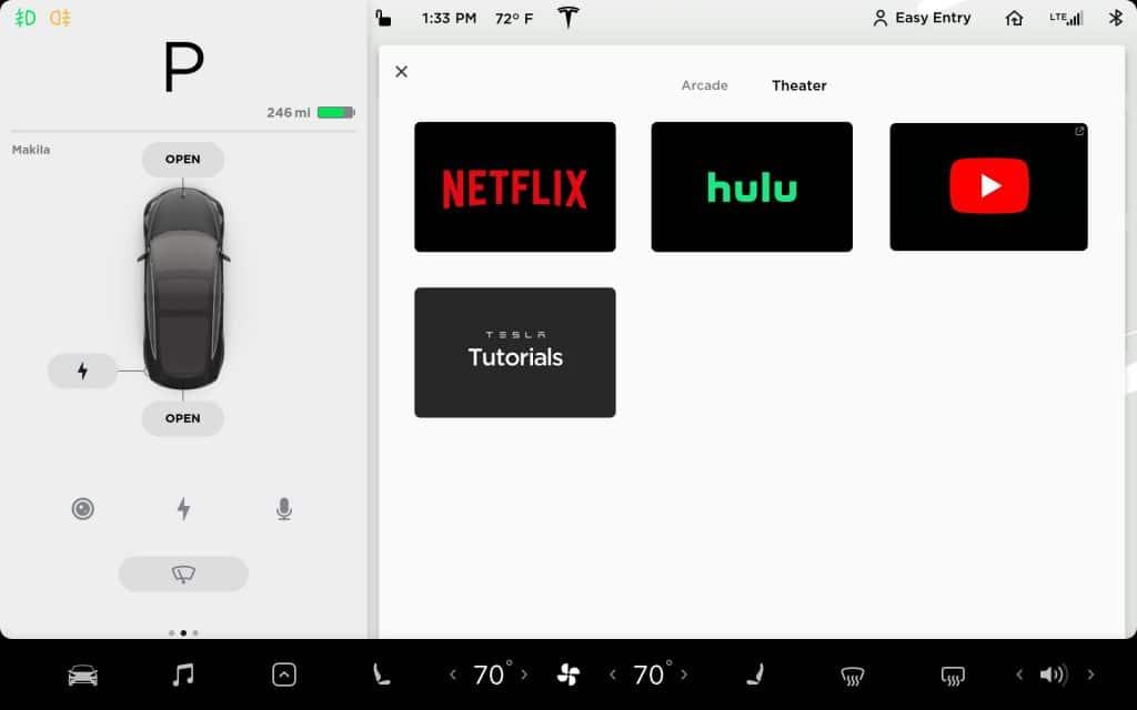 Netflix et YouTube arrivent dans les Tesla