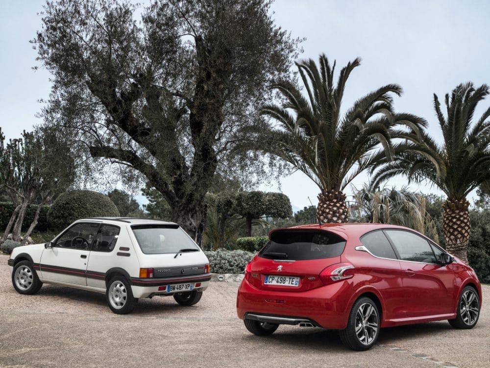 Peugeot 205 et 208 GTi