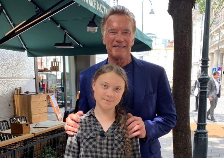 Greta Thunberg et Arnold Schwarzenegger