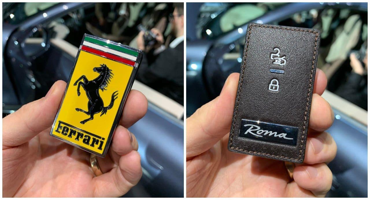 Clé de la Ferrari Roma