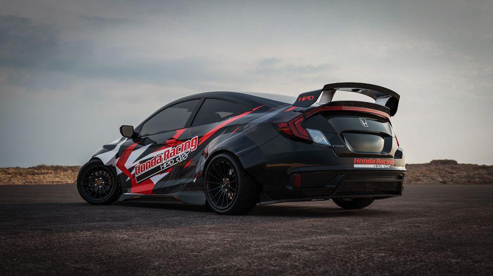 Honda Civic Si drift pour SEMA 2019