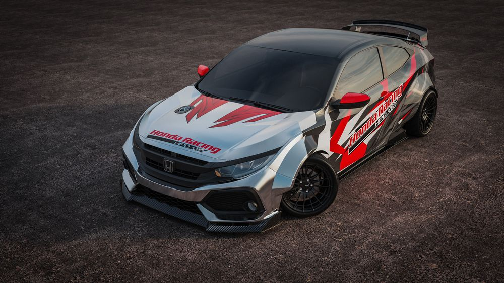 Honda Civic Si drift pour SEMA 2019