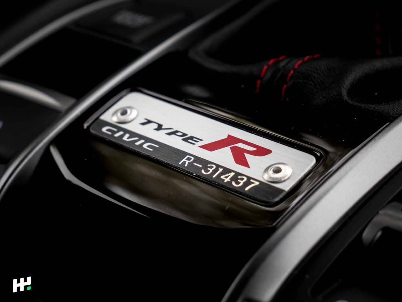 Plaque de la Honda Civic Type R FK8