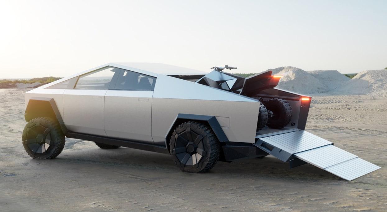 Tesla Cybertruck benne arrière