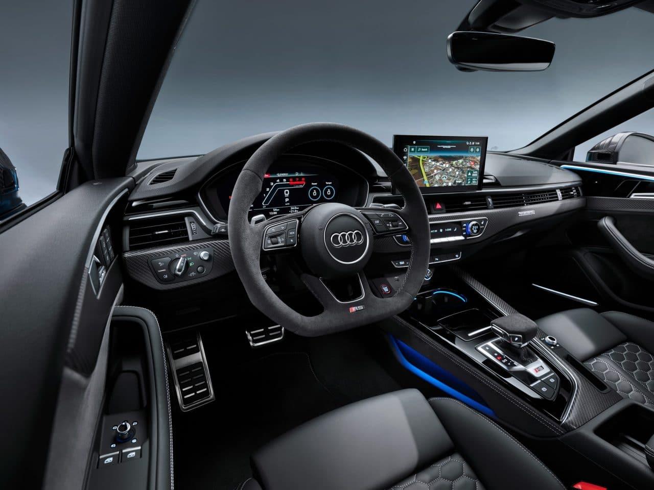 Intérieur de l'Audi RS5 Coupé et Sportback (2020)