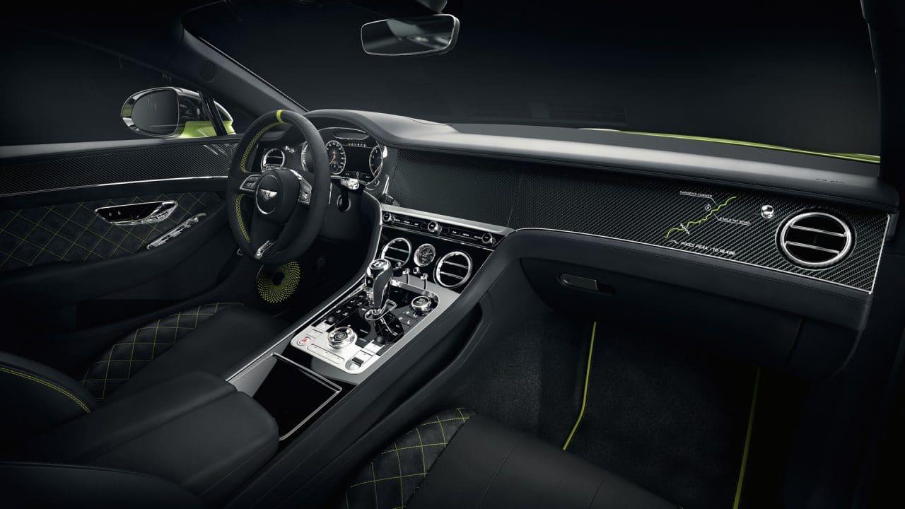Intérieur de la Bentley Continental GT Pikes Peak