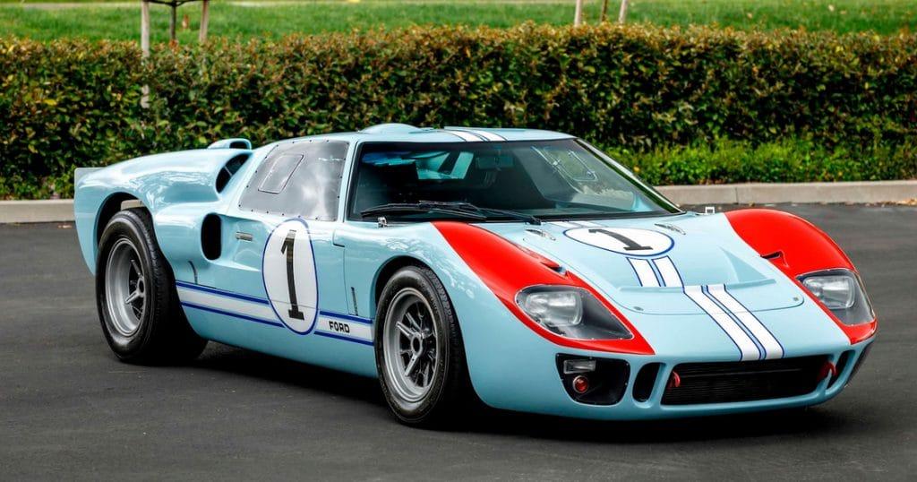 La Ford GT40 (réplique) utilisée dans le film Le Mans 66 est à vendre aux enchères