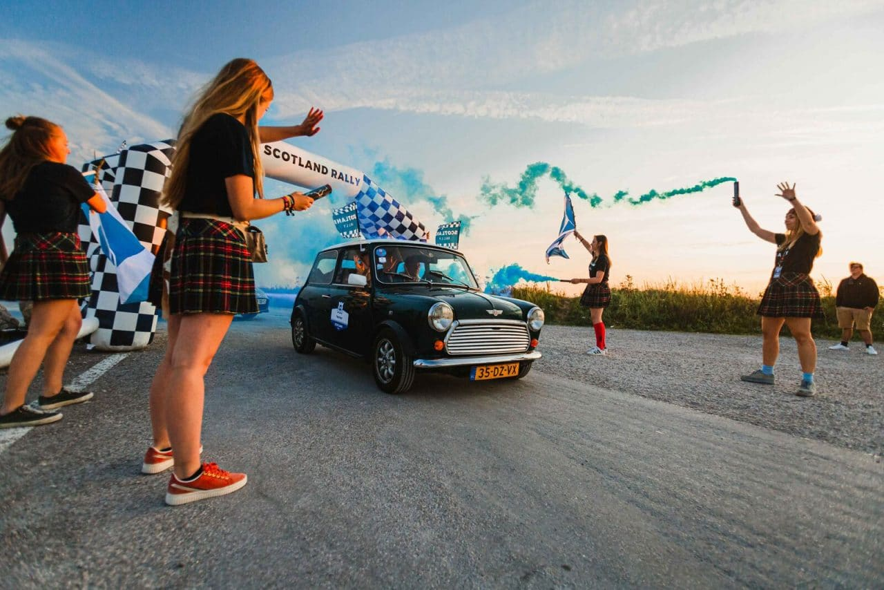 Départ du Scotland Rally
