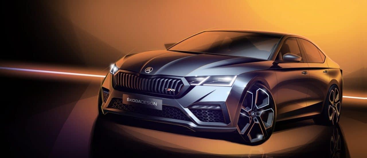 Skoda Octavia RS teaser 2020