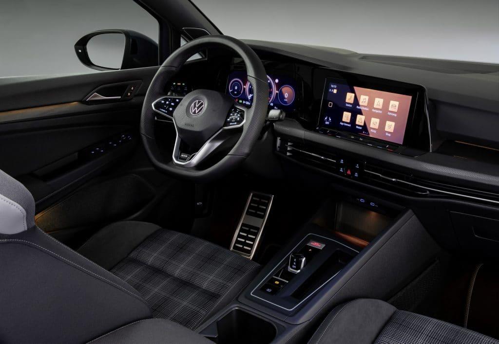 Intérieur de la Volkswagen Golf 8 GTD
