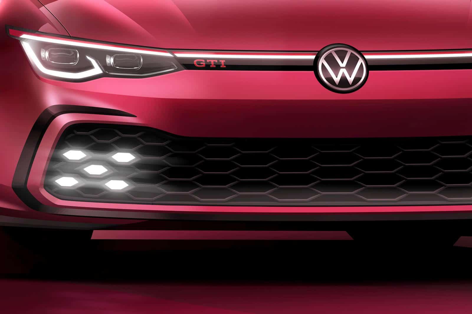 Volkswagen Golf 8 GTI (2020) teaser salon de Genève