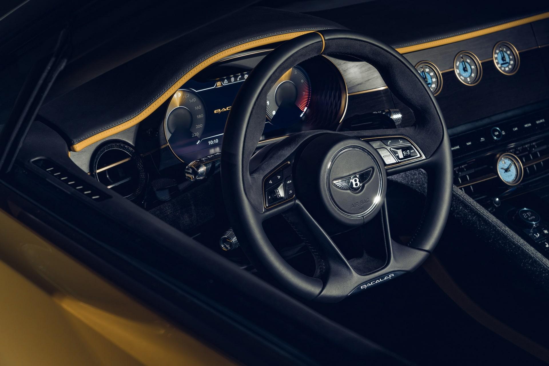 Intérieur/volant de la Bentley Mulliner Bacalar (2020)