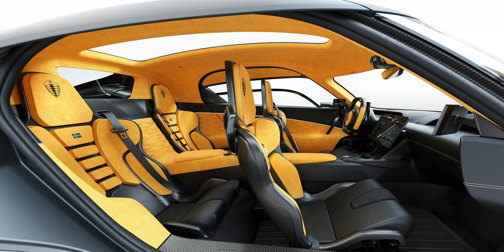 Intérieur de la Koenigsegg Gemera (2020)