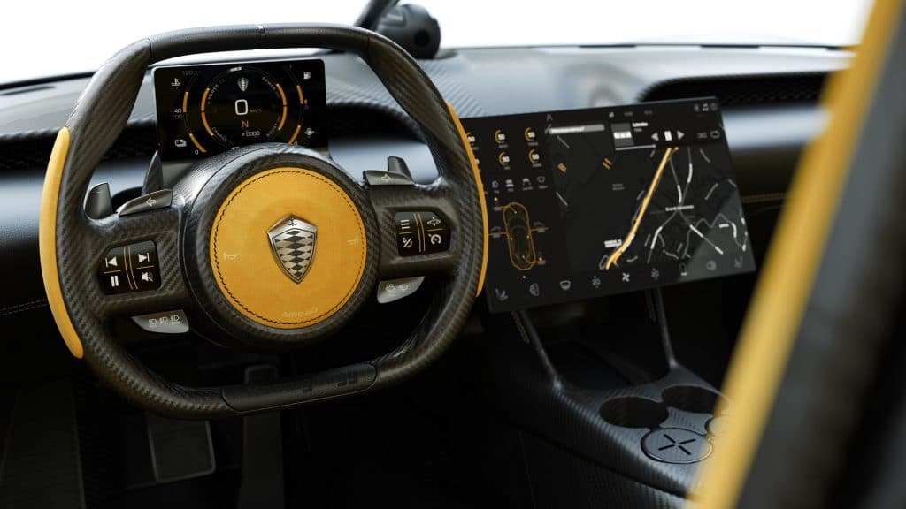 Intérieur Koenigsegg Gemera (2020)