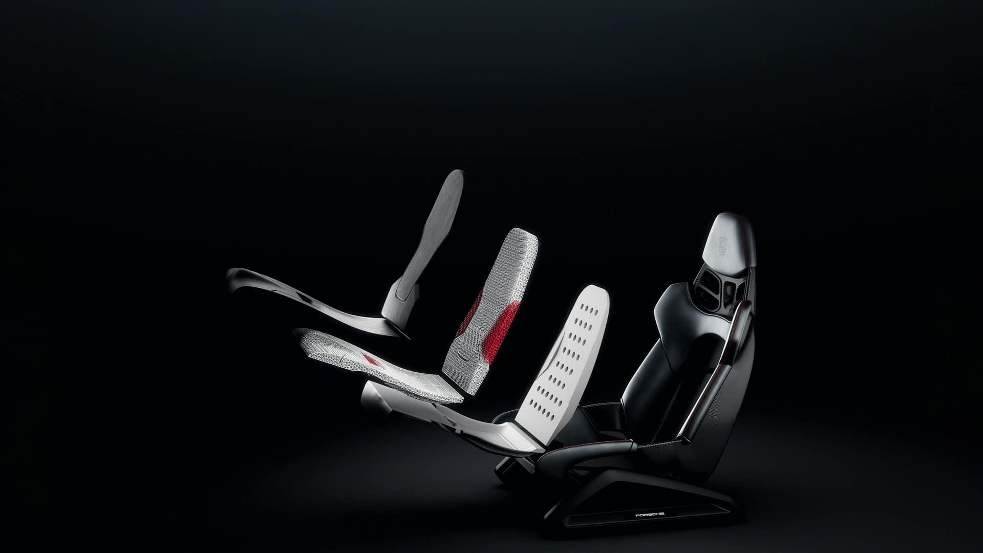 Porsche dévoile des sièges baquets en impression 3D et personnalisables