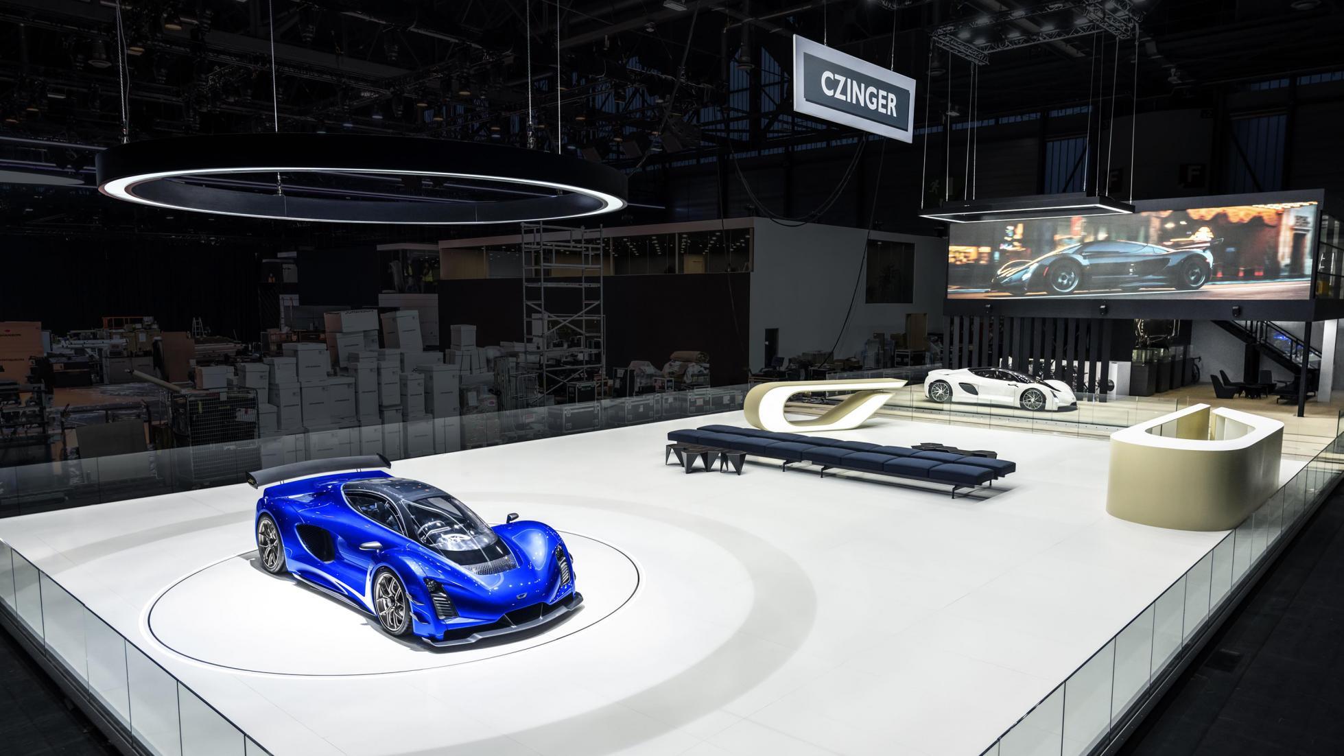 Czinger est le seul stand monté du Salon de Genève 2020